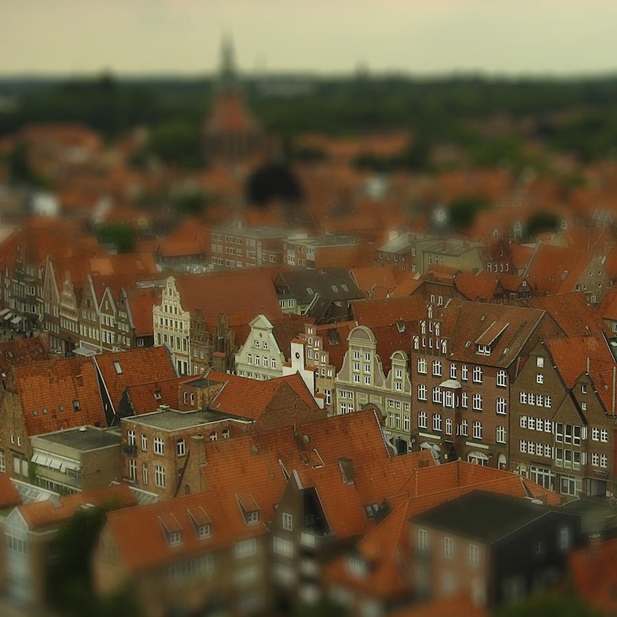 Вид на Люнебург с водонапорной башни